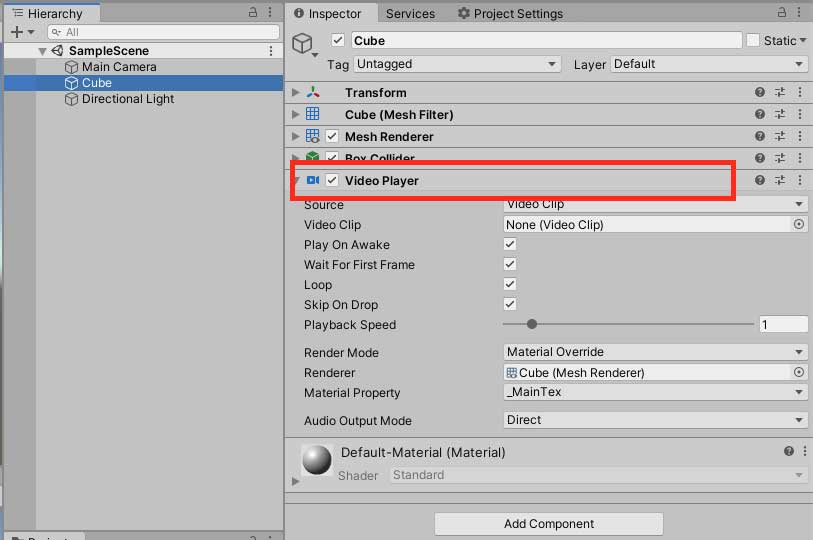 Play video in Unity