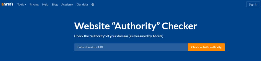 Ahref-Website-Authority-PageRank