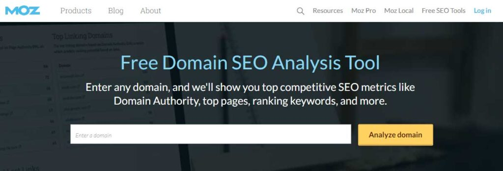 MOZ-DOmain-authority-Pagerank-Check